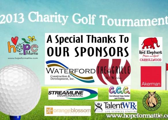 2013 Golf Sponsors