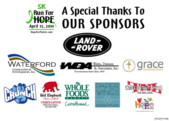 2014 Race Sponsors